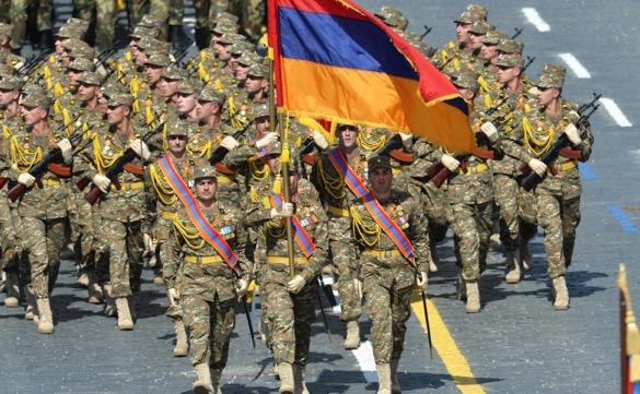 Armenian soldiers at the 2015 Victory Day parade. Kremlin.ru.