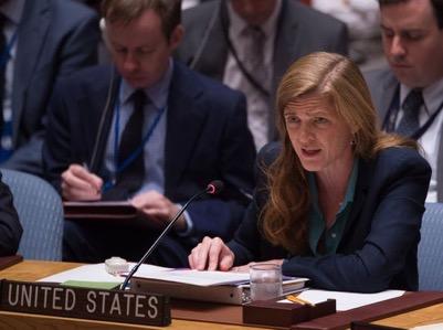 L'ambassadrice des Etats-Unis à l'ONU,... </div> <a href=
