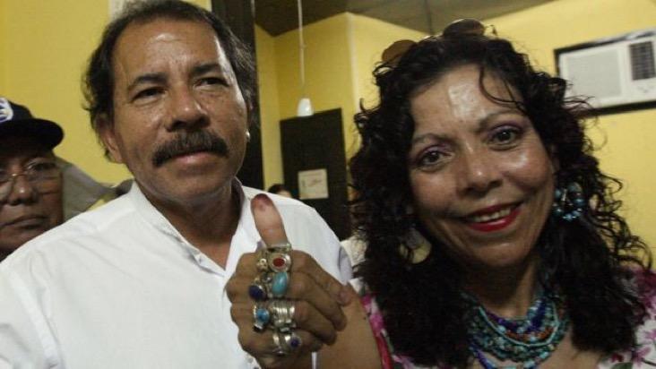 Polémica y poderosa, Murillo ha sido la incondicional compañera de Daniel Ortega. AFPImage caption
