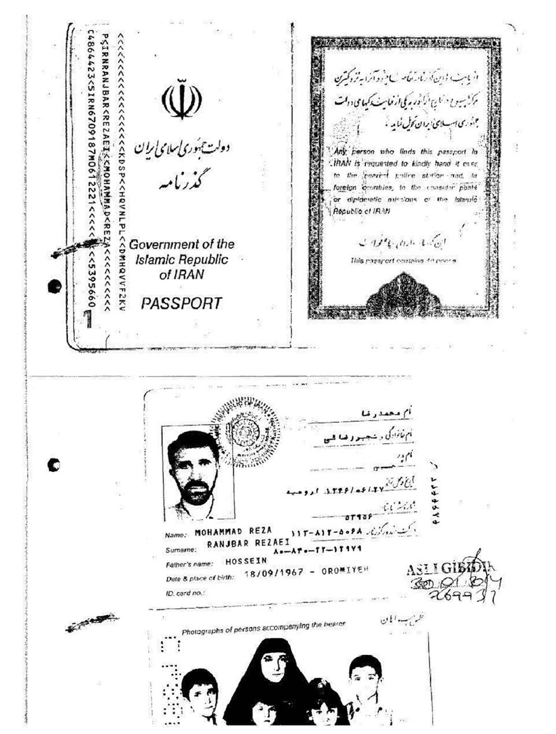 The forged passport used by Abd al-Hadi al-Iraqi when he was arrested in Gaziantep.