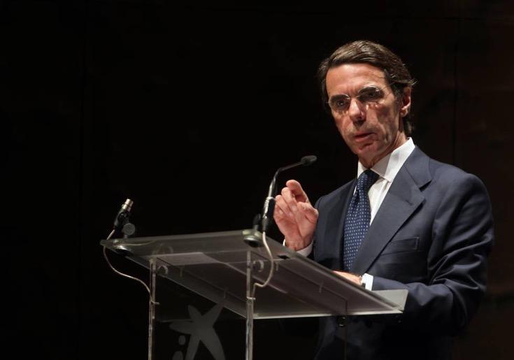 El expresidente Jose Maria Aznar en el foro de Economistas en Caixaforum. ©JAIME VILLANUEVA
