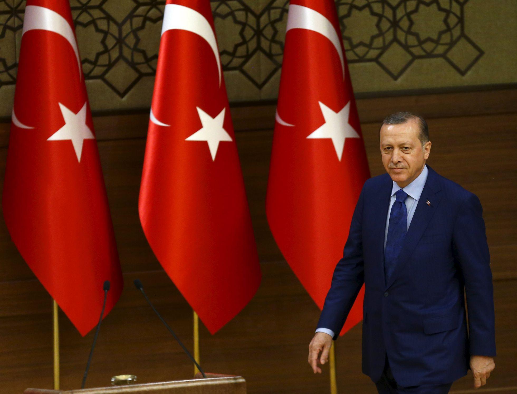 Erdogan, en una recepción en el palacio presidencial, en Ankara. Reuters
