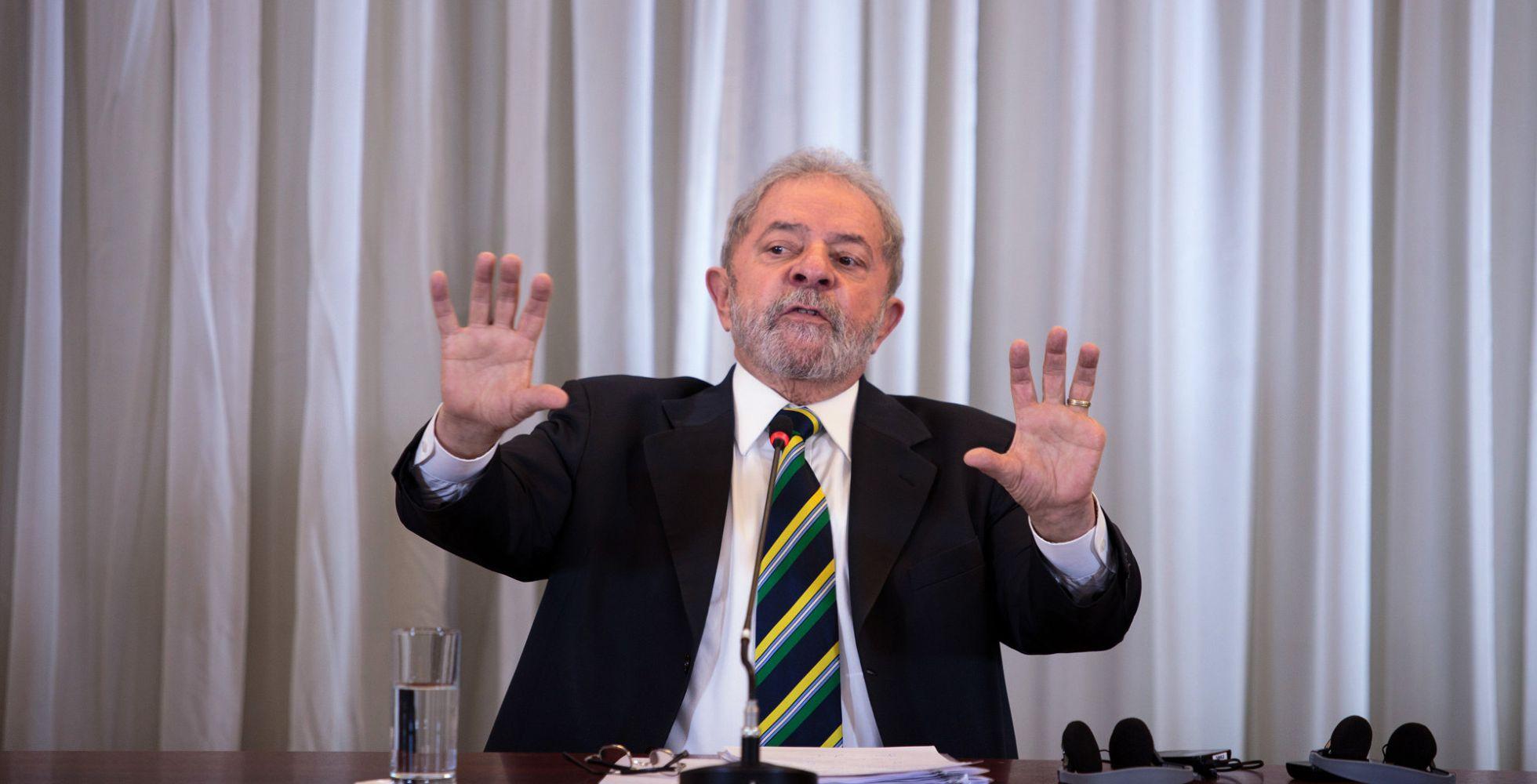 Lula, durante una conferencia de prensa en Sao Paulo este lunes. Patricia Monteiro Bloomberg