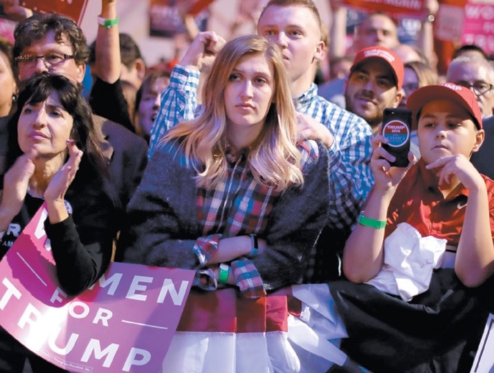 Supporters of Donald Trump at the Pittsburgh International Airport campaign rally, November 2016. Chip Somodevilla/Getty Images