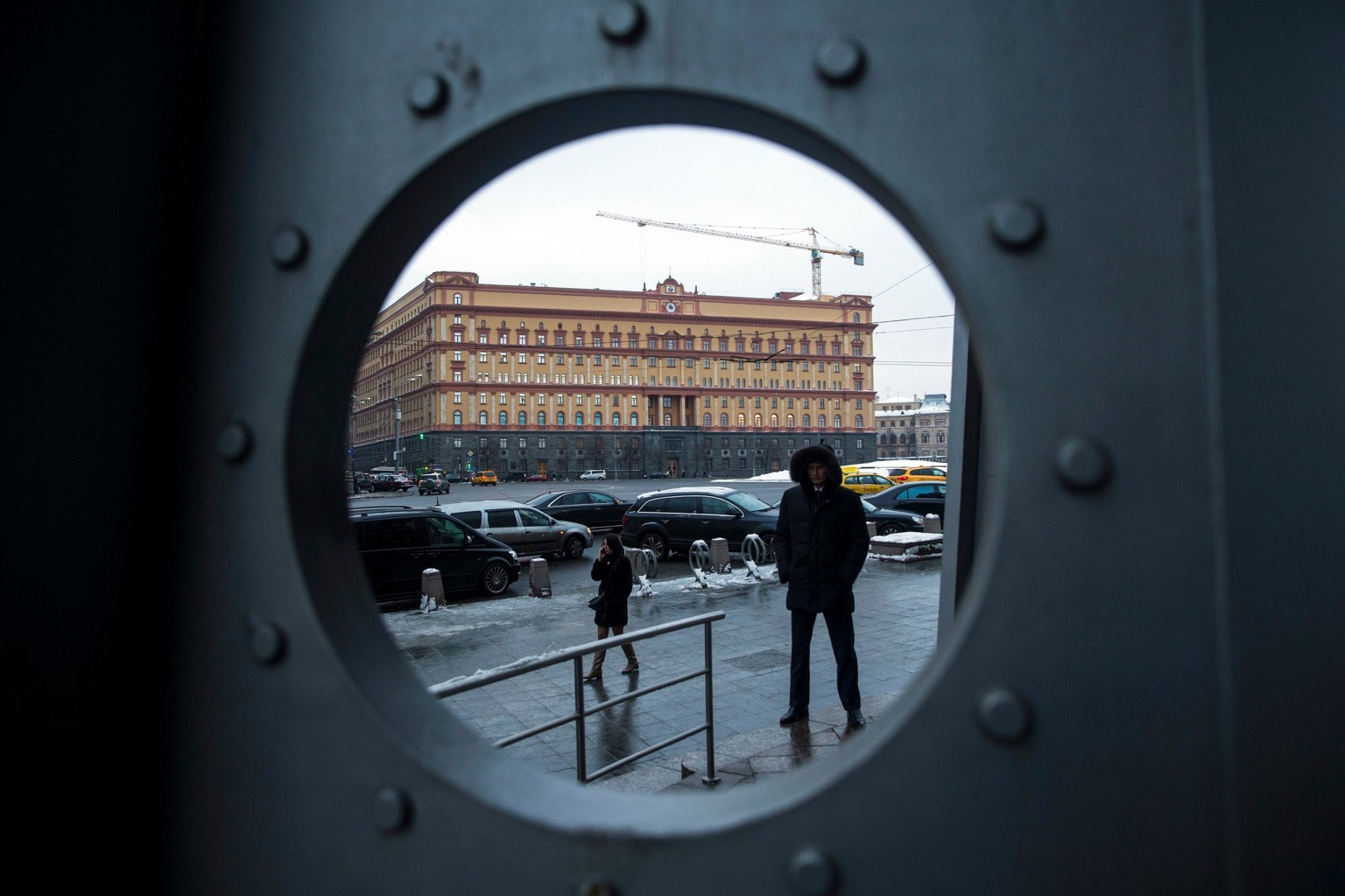The headquarters of the Russian F.S.B., the main successor to the Soviet-era K.G.B., in Moscow. Pavel Golovkin/AP