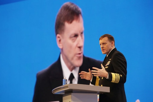Adm. Michael S. Rogers, the director of the National Security Agency and commander of United States Cyber Command, pressed for a more muscular response to the Russians. CreditJim Wilson/The New York Times
